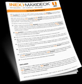 thm inex maxideck warranty